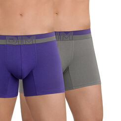 Lot de 2 boxers gris et violet Soft Touch Pop-DIM