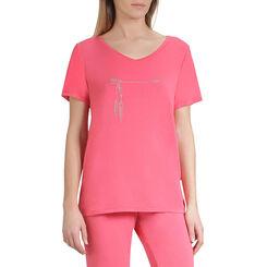 T-shirt de pyjama manches courtes grenadine Femme-DIM