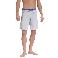 Short de pyjama gris clair ceinture bleue Homme-DIM