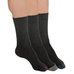 Lot de 3 paires de chaussettes anthracite Homme-DIM