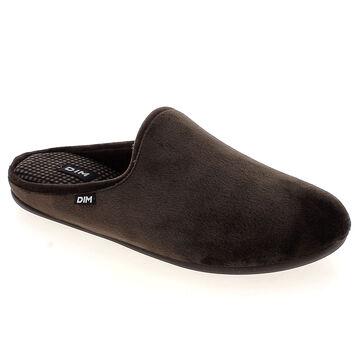 Chaussons pantoufles marrons en velours Homme-DIM