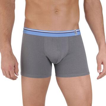 Boxer gris foncé ceinture bleu nuage DIM Colors-DIM