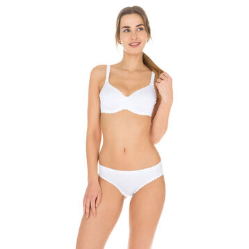 Slip blanc Body Touch seconde peau Femme-DIM