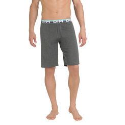 Short de pyjama gris anthracite en coton stretch Homme-DIM