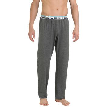 Pantalon de pyjama gris anthracite en coton stretch Homme-DIM