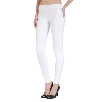 Tregging effet jean blanc Madame so DIM-DIM