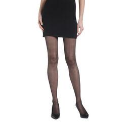 Collant noir carreaux  Madame So Daily 23D-DIM