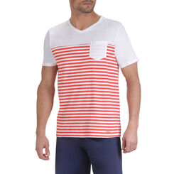 T-shirts de pyjama manches courtes imprimé rayures Homme-DIM