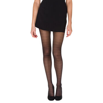 Collant noir motif constellation Madame So Daily 24D-DIM