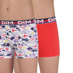 Lot de 2 boxers rouge et imprimé Eco DIM Boy-DIM
