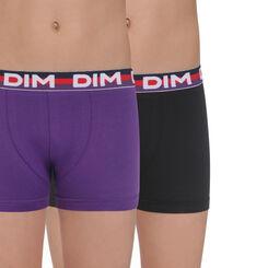 Lot de 2 boxers mûre et noir Eco DIM Boy-DIM