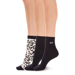 Lot de 3 paires de socquettes à motif animalier Femme-DIM