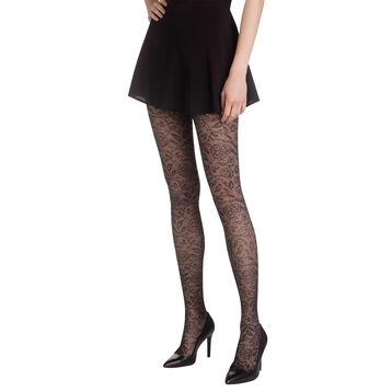 Collant noir dentelle chic Madame So Chic 21D-DIM
