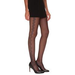 Collant noir guipure chic Madame So Chic 22D-DIM