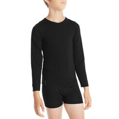 T-shirt en coton noir manches longues - DIM Boy-DIM