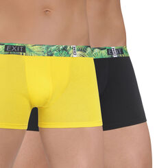 Lot de 2 boxers jaune tournesol et noir DIM Crazy Break-DIM