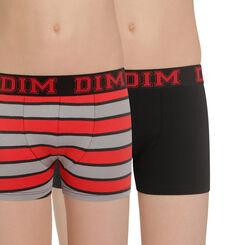 Lot de 2 boxers noir et rayures Rythmics DIM Boy-DIM