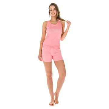 Short de pyjama rose géranium 100% coton Femme-DIM