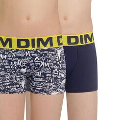 Lot de 2 boxers bleu matelot imprimé Art DIM Boy-DIM