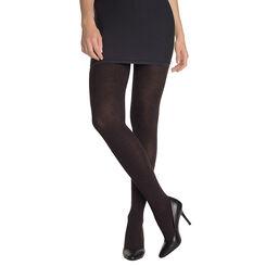 Collant en Coton rayé gris moineau/noir 450D Madame so Cosy-DIM