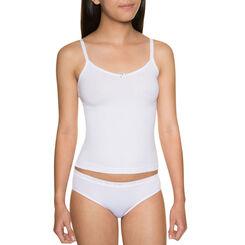 Caraco blanc coton stretch - DIM Girl-DIM