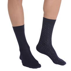Lot de 2 chaussettes bleu marine à plumetis Homme-DIM
