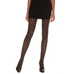 Collant noir et beige clair neofolk Madame So Fashion 33D-DIM