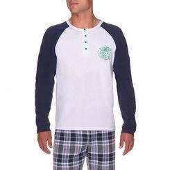 T-shirt de pyjama manches longues blanc Homme-DIM