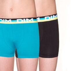 Lot de 2 boxers coloris joyau en coton stretch DIM Boy-DIM