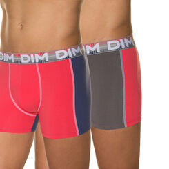 Lot de 2 boxers rose pop, gris foncé 3D Flex Dynamic-DIM