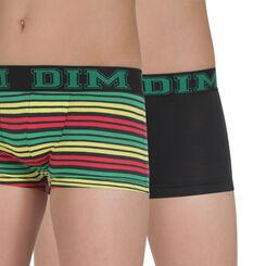 Lot de 2 boxers noir et imprimé Rythmics DIM Boy-DIM