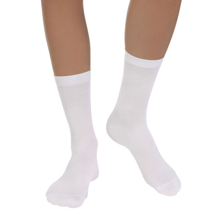 lot de 2 paires de chaussettes blanches light coton femme. Black Bedroom Furniture Sets. Home Design Ideas