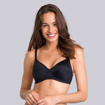 2 non-wired Bras in Black & White– Basic Micro Support-PLAYTEX