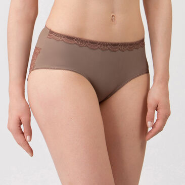 Midi Brief in Warm grey - Invisible Elegance-PLAYTEX