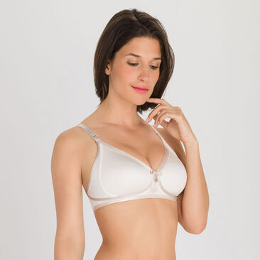 Non-wired Bra in Antique White - Ideal Beauty  -PLAYTEX