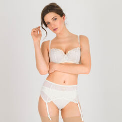 Porte-jarretelle blanc ivoire – Glamour Raffiné-WONDERBRA