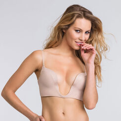 Super low-cut push up bra in nude – Ultimate Plunge bra-WONDERBRA