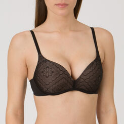 Black Wireless Push-Up Bra - Ultimate Silhouette Lace-WONDERBRA