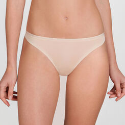 Nude basic Thong - WONDERBRA - New Basic Bottoms
