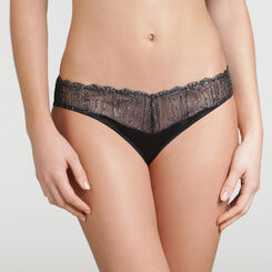 Tanga Noir Irisé - WONDERBRA - Collection Exclusive