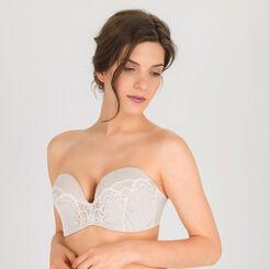soutien gorge bandeau push up blanc ivoire glamour raffin wonderbra - Guepiere Mariage Push Up