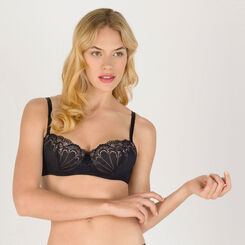 Black Balconette Bra - Refined Glamour-WONDERBRA