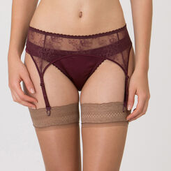 Purple Suspender Belt – Luxe Collection-WONDERBRA