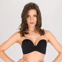 Soutien-gorge Bandeau Push-up noir - Ultimate Silhouette-WONDERBRA