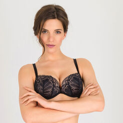 Black Push-Up + 2 Extra Cup Sizes Bra - Refined Glamour-WONDERBRA