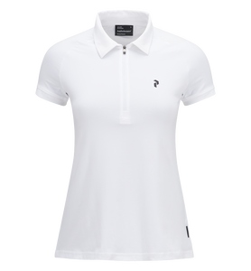 Women's Golf Zipped Short-sleeve Polo