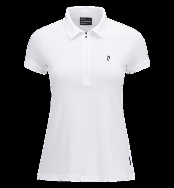 Women's Golf Zipped Short-sleeve Polo
