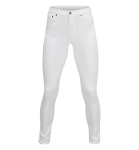 Women's Awa White Stretch Jeans