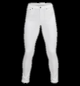 Jeans blancs stretch pour femmes Awa