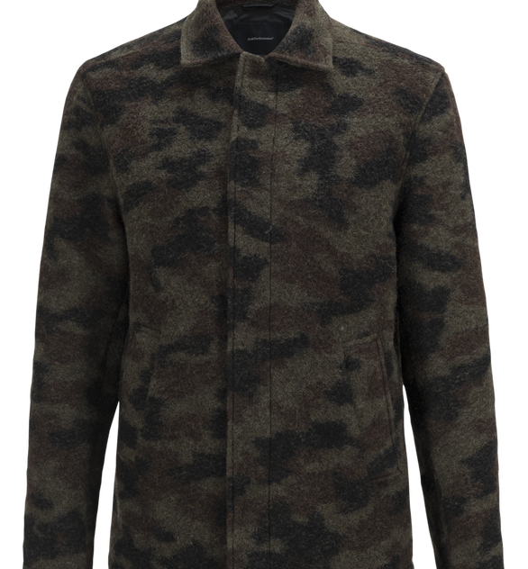 Kamouflagemönstrad herrskjorta i ull